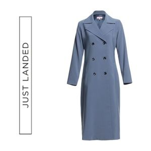 Jackets & Blazers - New-Just-Arrived-Slated-Blue-Trench-Coat